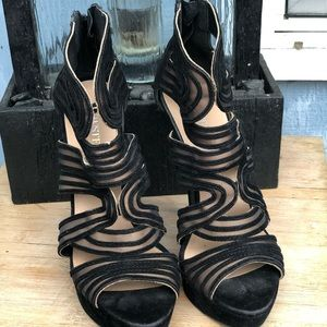 Justfab Allie Caged Stiletto Heels Sz. 9
